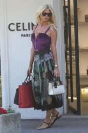 Victoria Silvstedt Out Shopping in Saint Tropez 2020/05/31 11