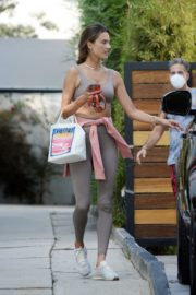 Alessandra Ambrosio Leaves Gym in Los Angeles 2020/09/21 11