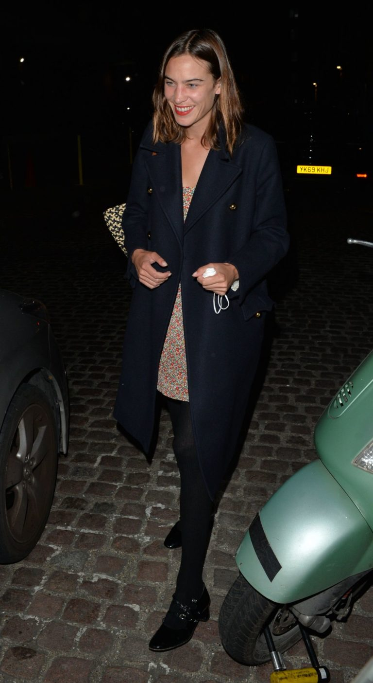 ALEXA CHUNG Leaves Chiltern Firehouse in London 09/17/2020 2