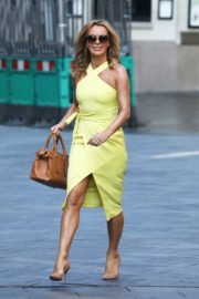 Amanda Holden in a Yellow Dress at Global Radio in London 2020/09/22 1