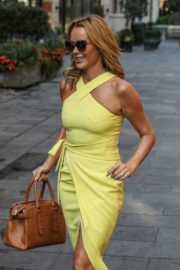 Amanda Holden in a Yellow Dress at Global Radio in London 2020/09/22 2