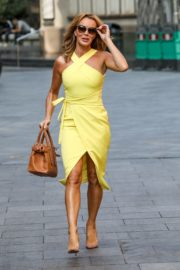 Amanda Holden in a Yellow Dress at Global Radio in London 2020/09/22 3