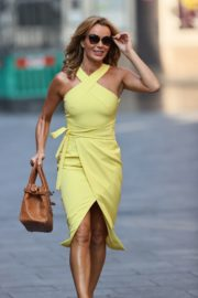 Amanda Holden in a Yellow Dress at Global Radio in London 2020/09/22 4