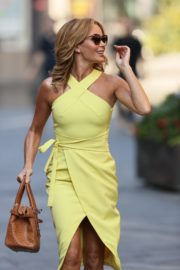 Amanda Holden in a Yellow Dress at Global Radio in London 2020/09/22 5