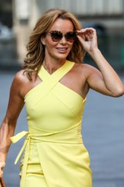Amanda Holden in a Yellow Dress at Global Radio in London 2020/09/22 6