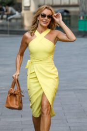 Amanda Holden in a Yellow Dress at Global Radio in London 2020/09/22 7