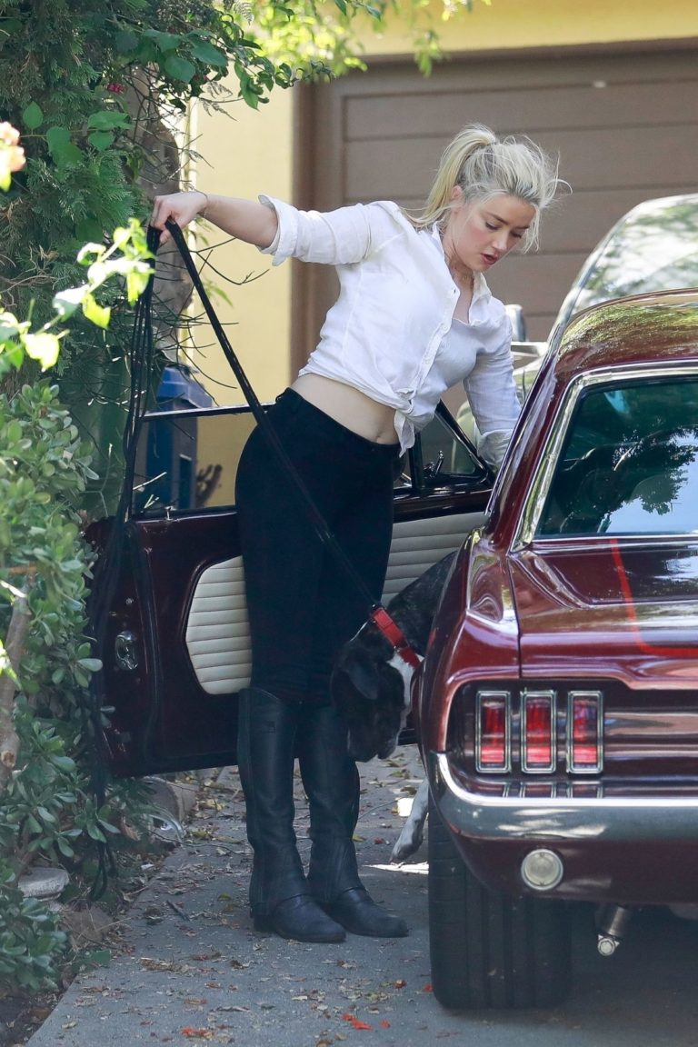 Amber Heard Out Driving in Los Angeles 2020/09/22 1