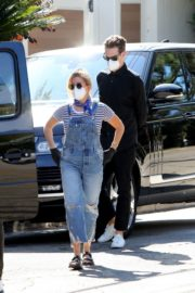 Ashley Tisdale in Denim Overalls Out House Hunting in Los Angeles 09/18/2020 1