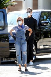Ashley Tisdale in Denim Overalls Out House Hunting in Los Angeles 2020/09/18 3