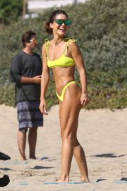 Camila Coelho in a Yellow Bikini at a Beach in Santa Monica 2020/09/19 24