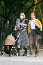 Chloe Sevigny Out with her Baby and Friend in New York 2020/09/22 2