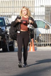 Emma Slater Arrives at DWTS Rehearsal in Los Angeles 2020/09/18 2