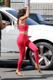 Jeannie Mai in Tights Leaves DWTS Studio in Los Angeles 2020/09/19 5