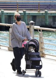 KALEY CUOCO Out with Her Dog at Manhattan's Hudson River Park 2020/09/20 1
