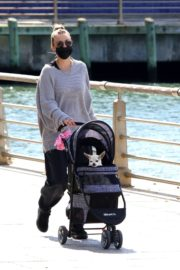 KALEY CUOCO Out with Her Dog at Manhattan's Hudson River Park 2020/09/20 4