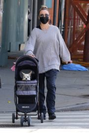 Kaley Cuoco Out with Her Dog at Manhattan's Hudson River Park 2020/09/20 5