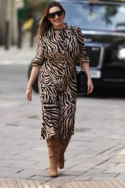 Kelly Brook in a Tiger Print Dress Out in London 2020/09/18 2