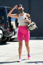 Lucy Hale Arrives at a Gym in Studio City 2020/09/20 7