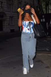 Maya Jama Night Out in London 2020/09/17 3