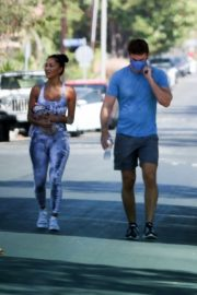 Nicole Scherzinger and Thom Evans Heading to a Gym in Los Angeles 2020/08/26 2