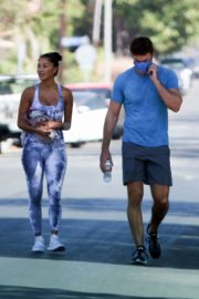 Nicole Scherzinger and Thom Evans Heading to a Gym in Los Angeles 2020/08/26 4