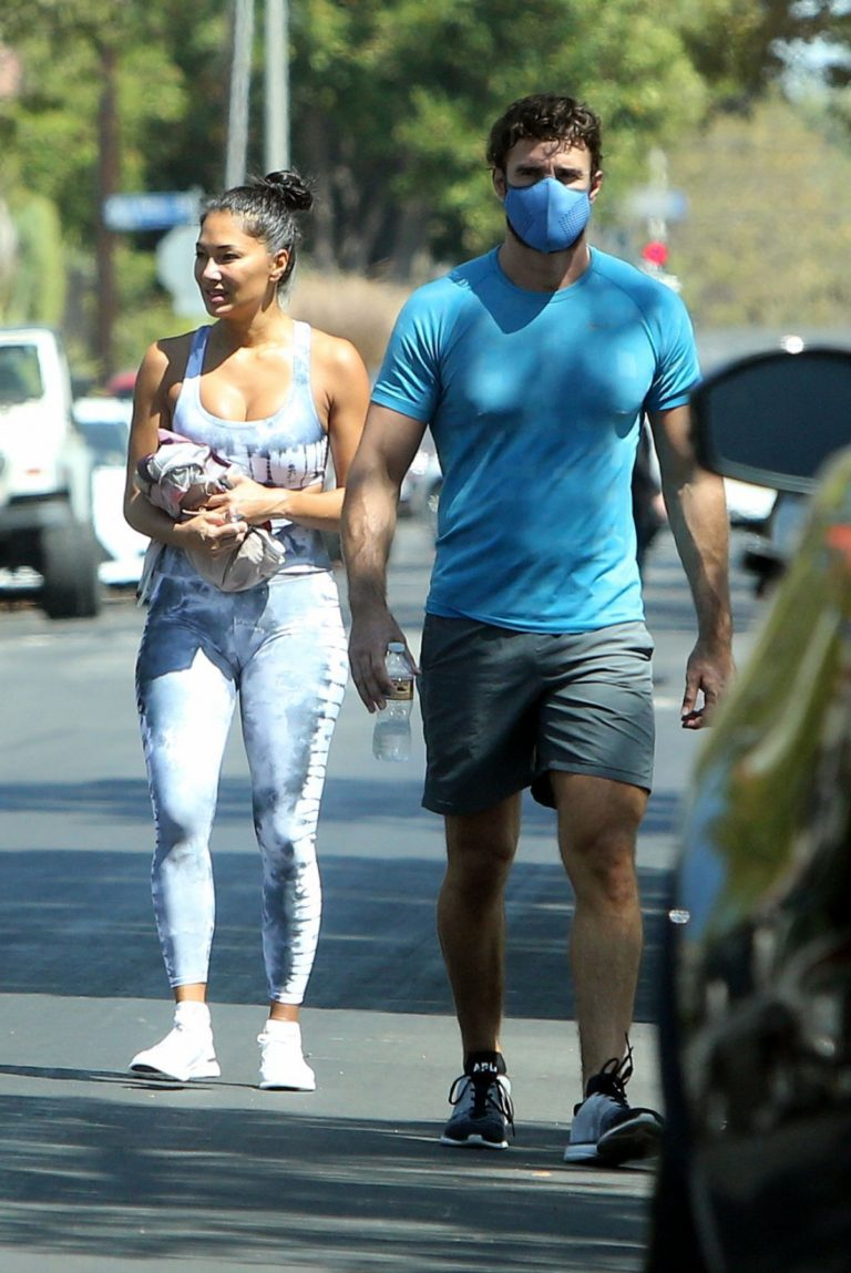 Nicole Scherzinger and Thom Evans Heading to a Gym in Los Angeles 2020/08/26 5