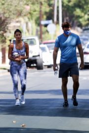 Nicole Scherzinger and Thom Evans Heading to a Gym in Los Angeles 2020/08/26 6