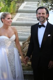 Sylvie Meis and Nicals Castello at Wedding Ceremony in Italy 2020/09/19 1