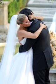 Sylvie Meis and Niclas Castello at Wedding Ceremony in Italy 2020/09/19 3