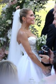 Sylvie Meis and Niclas Castello at Wedding Ceremony in Italy 2020/09/19 11