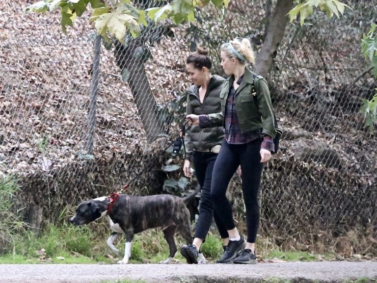 Amber Heard Out Hiking with Friend at Griffith Park 2020/10/26 1