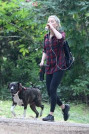 Amber Heard walks with her dog out in Los Feliz 2020/10/25 6