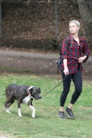 Amber Heard walks with her dog out in Los Feliz 2020/10/25 7