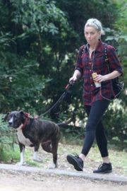 Amber Heard walks with her dog out in Los Feliz 2020/10/25 10