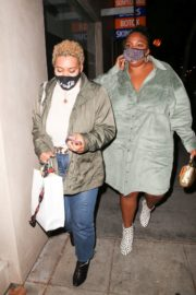 American Singer Lizzo Out for Dinner in West Hollywood 2020/10/24 2