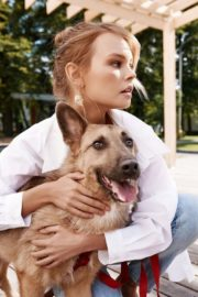 Anastasiya Shcheglova with Dog Photoshoot for Fashion Dobro 2020 Issue 4