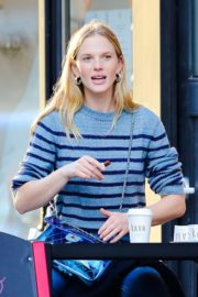 Anne Vyalitsyna Out for Coffee at The Kava in New York 2020/10/23 1