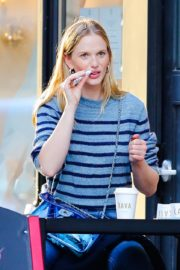 Anne Vyalitsyna Out for Coffee at The Kava in New York 2020/10/23 2