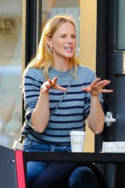 Anne Vyalitsyna Out for Coffee at The Kava in New York 2020/10/23 3