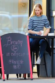 Anne Vyalitsyna Out for Coffee at The Kava in New York 2020/10/23 8