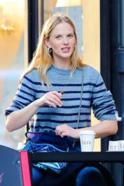 Anne Vyalitsyna Out for Coffee at The Kava in New York 2020/10/23 9