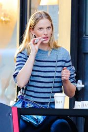 Anne Vyalitsyna Out for Coffee at The Kava in New York 2020/10/23 10