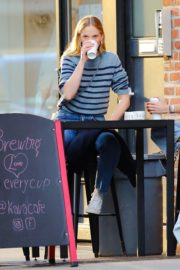 Anne Vyalitsyna Out for Coffee at The Kava in New York 2020/10/23 11