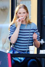 Anne Vyalitsyna Out for Coffee at The Kava in New York 2020/10/23 12