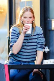 Anne Vyalitsyna Out for Coffee at The Kava in New York 2020/10/23 13
