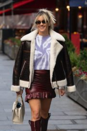 Ashley Roberts in a Mini Skirt and High Knee Boots Leaves Heart Radio in London 2020/10/26 8