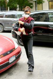 Bella Hadid in Red & Black Puffy Jacket Out in New York 2020/09/24 6