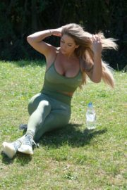 Bianca Gascoigne Workout at a Park in London 2020/10/01 4