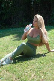 Bianca Gascoigne Workout at a Park in London 2020/10/01 7