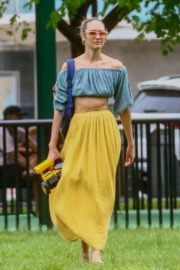 Candice Swanepoel in  Off Shoulder Tops and Logn Skirt in Miami Beach 2020/10/25 3